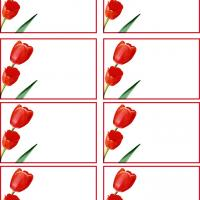 Red Tulip Name Tag