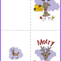 Printable Reindeer Christmas Card - Printable Christmas Cards - Free Printable Cards