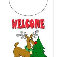 Printable Holiday Reindeer Door Knob - Printable Fun - Free Printable Activities