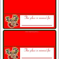 Printable Reindeer Place Cards - Printable Place Cards - Free Printable Cards