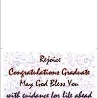 Printable Rejoice Graduation Card - Printable Graduation Cards - Free Printable Cards