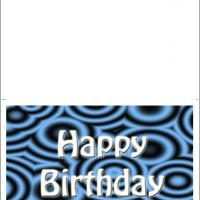 Printable Retro Blue Great Birthday Cards - Printable Birthday Cards - Free Printable Cards