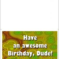 Retro Green Birthday Card