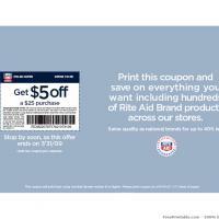 Rite Aid Pharmacy $5 Off Coupon