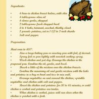Printable Roasted Chicken Recipe - Printable Recipes - Free Printable Activities