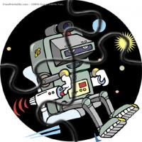 Printable Robot In Space - Printable Puzzles - Free Printable Games