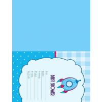 Rocket Baby Shower Card