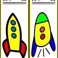 Printable Rocket Bookmarks - Printable Bookmarks - Free Printable Crafts