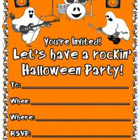Printable Rockin Ghost Band - Printable Party Invitation Cards - Free Printable Invitations