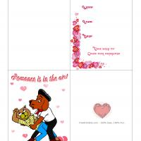 Printable Romance is in the Air - Printable Valentines - Free Printable Cards