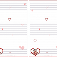 Printable Romantic Betty Boop Stationary - Printable Stationary - Free Printable Activities