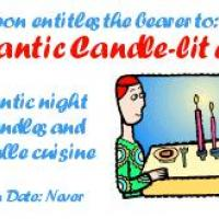 Printable Romantic Candle-Lit Dinner Coupon - Printable Misc Coupons - Free Printable Coupons