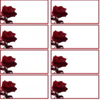 Printable Rose Address Label - Printable Labels - Misc Printables