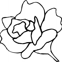 Printable Rose Pattern - Printable Flower - Free Printable Crafts