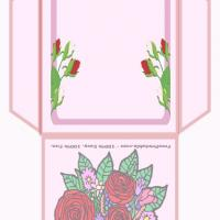 Printable Roses Teabag Envelope - Printable Card Maker - Free Printable Cards