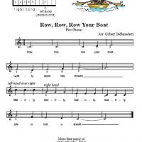 Printable Row Row Row Your Boat - Printable Piano Music - Free Printable Music