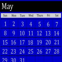 Printable Royal Blue May 2011 Calendar - Printable Monthly Calendars - Free Printable Calendars