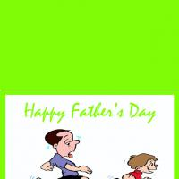 Printable Running With Dad - Printable Fathers Day Cards - Free Printable Cards