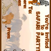 Printable Safari Party Invitation - Printable Party Invitation Cards - Free Printable Invitations