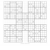 Samurai Sudoku Puzzle 1