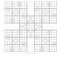 Samurai Sudoku Puzzle 2