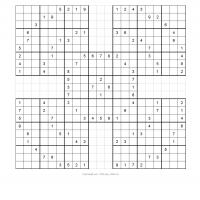 Samurai Sudoku Puzzle 4