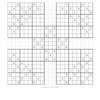 Samurai Sudoku Puzzle 5