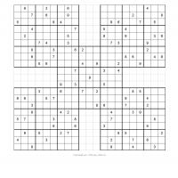 Samurai Sudoku Puzzle 6