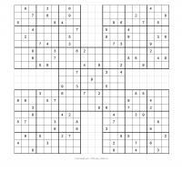 Samurai Sudoku Puzzle 6