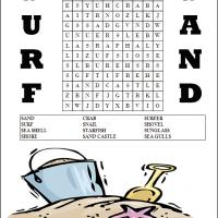 Sand And Surf Word Search