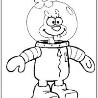Printable Sandy Cheeks Wearing Her Ocean Suit - Printable Spongebob - Free Printable Coloring Pages