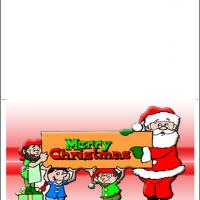Printable Santa And Elves Greetings - Printable Christmas Cards - Free Printable Cards