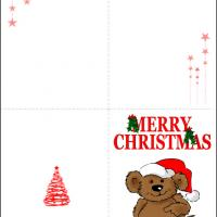 Printable Santa Bear Card - Printable Christmas Cards - Free Printable Cards