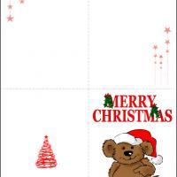 Santa Bear Card