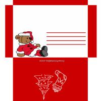 Printable Santa Bear Envelope - Printable Card Maker - Free Printable Cards