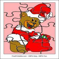 Santa Bear Holding A Star
