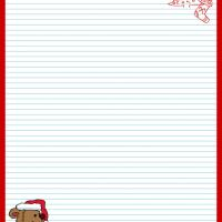 Printable Santa Bear Stationary - Printable Stationary - Free Printable Activities