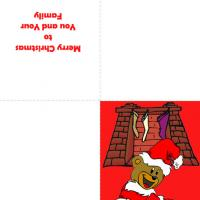 Printable Santa Bear - Printable Christmas Cards - Free Printable Cards
