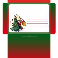 Printable Santa Behind the Tree Envelope - Printable Card Maker - Free Printable Cards