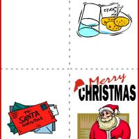 Printable Santa Card - Printable Christmas Cards - Free Printable Cards