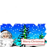 Santa Christmas Greeting