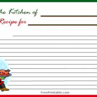 Santa Christmas Recipe Card