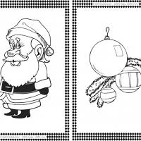 Santa Claus and Christmas Balls Flash Cards