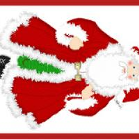 Santa Claus Gift Tag Bookmark