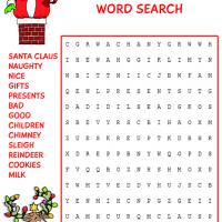 Santa Claus is Coming to Town Word Search