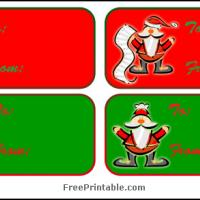 Printable Santa Claus Labels - Printable Gift Cards - Free Printable Cards