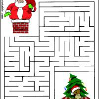 Printable Santa Claus Maze - Printable Mazes - Free Printable Games