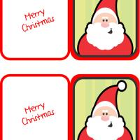 Printable Santa Claus Mini Cards - Printable Christmas Cards - Free Printable Cards