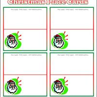 Printable Santa Claus Place Cards - Printable Place Cards - Free Printable Cards