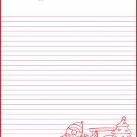 Printable Santa Delivering Present - Printable Stationary - Free Printable Activities